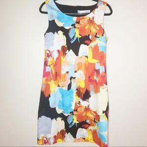 Chetta B | Shift Dress Floral Abstract